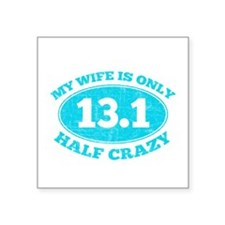 Half Crazy Wife Sticker
