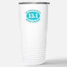 Half Crazy Wife Travel Mug