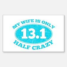 Half Crazy Wife Decal