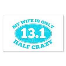 Half Crazy Wife Decal