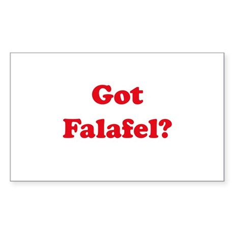 Got Falafel? Rectangle Sticker