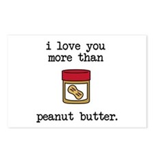 Love You More Than Peanut Postcards (Package of 8)