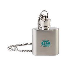 I'm Only Half Crazy Flask Necklace