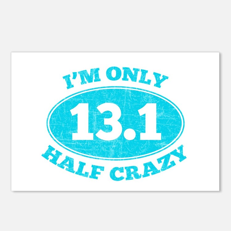 I'm Only Half Crazy Postcards (Package of 8)
