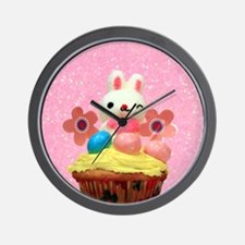 Easter Bunny cupcake Wall Clock