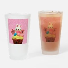 Easter Bunny cupcake Drinking Glass