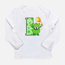 1st Birthday Monster Long Sleeve Infant T-Shirt
