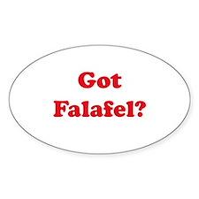 Got Falafel? Oval Decal