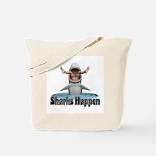 Sharks Happen Tote Bag
