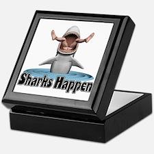 Sharks Happen Keepsake Box