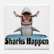 Sharks Happen Tile Coaster