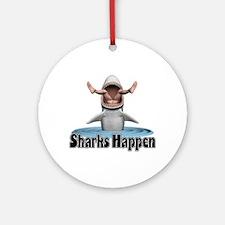 Sharks Happen Ornament (Round)