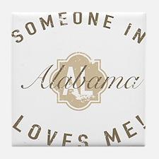 Someone In Alabama Tile Coaster