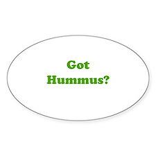 Got Hummus Oval Decal