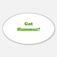 Got Hummus Oval Decal