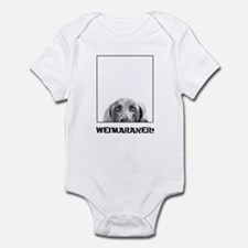 Weimaraner In A Box! Infant Bodysuit