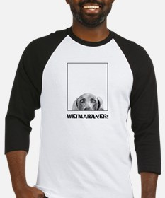 Weimaraner In A Box! Baseball Jersey