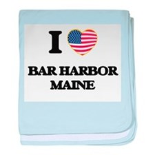 I love Bar Harbor Maine baby blanket