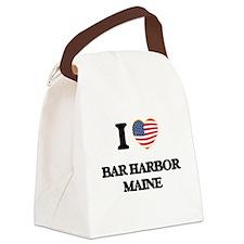 I love Bar Harbor Maine Canvas Lunch Bag