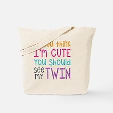Cute Twins Tote Bag