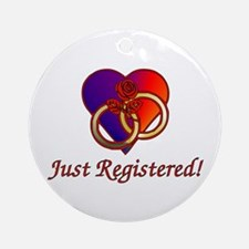 Just Registered Ornament (Round)