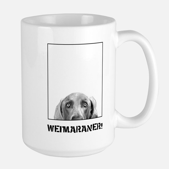 Weimaraner In A Box! Large Mug