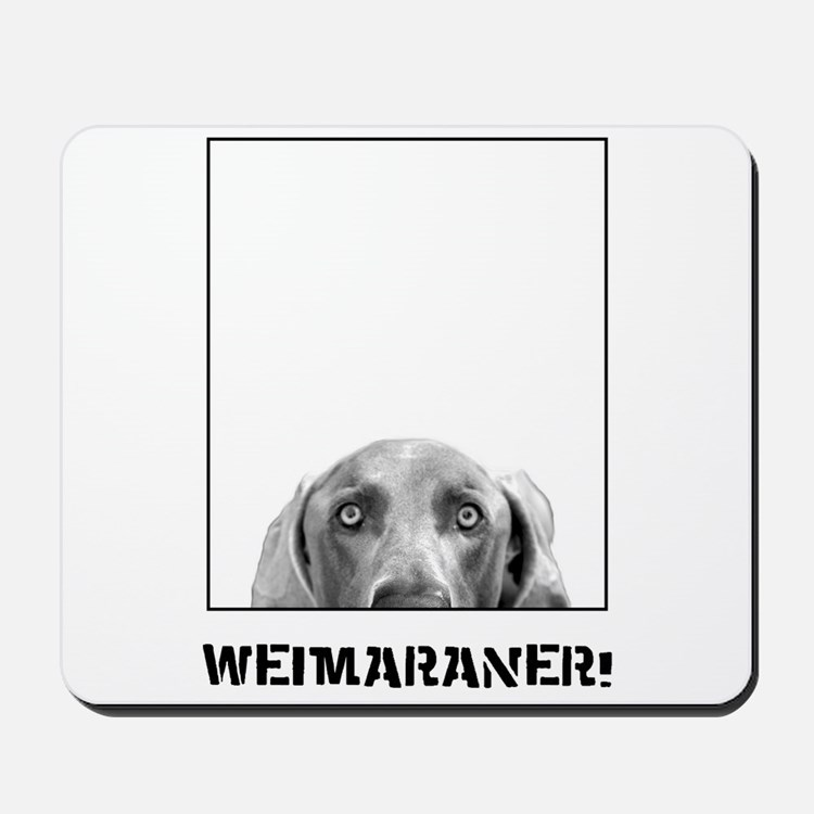 Weimaraner In A Box! Mousepad