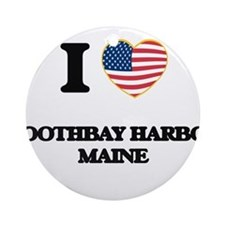 I love Boothbay Harbor Maine Ornament (Round)