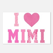 I love Mimi Pink Postcards (Package of 8)