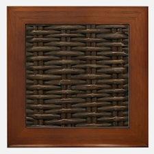 wicker Framed Tile
