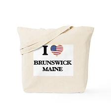 I love Brunswick Maine Tote Bag