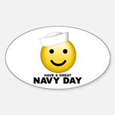 Have a Great Navy Day Oval Decal