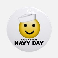 Have a Great Navy Day Ornament (Round)