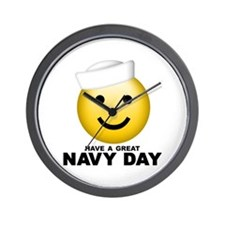 Have a Great Navy Day Wall Clock