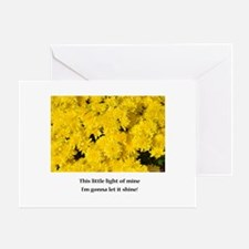 Yellow Flowers Shine Your Light Greeting Cards