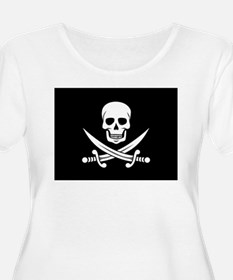 Skull and Swords Jolly Roger Plus Size T-Shirt