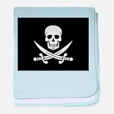 Skull and Swords Jolly Roger baby blanket
