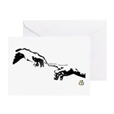 mens hands Greeting Card