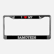 Love Samoyeds License Plate Frame