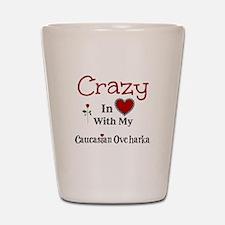 Caucasian Ovcharka Shot Glass