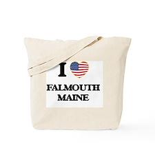 I love Falmouth Maine Tote Bag