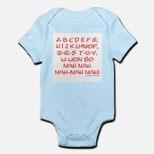 red alphabet weepublican Infant Creeper