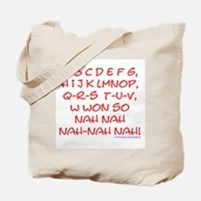 red alphabet weepublican Tote Bag