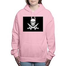 Skull and Swords Jolly R Women's Hooded Sweatshirt