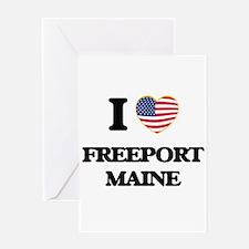 I love Freeport Maine Greeting Cards