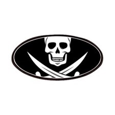 Skull and Swords Jolly Roger Patch
