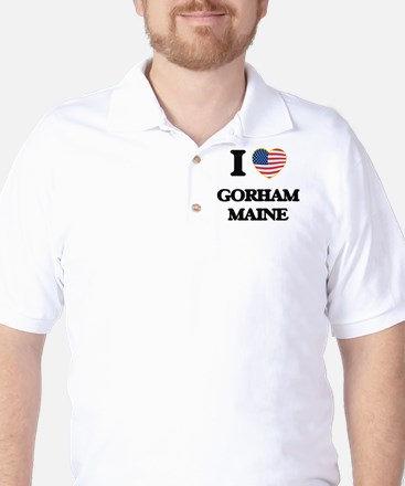 I love Gorham Maine Golf Shirt