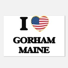 I love Gorham Maine Postcards (Package of 8)