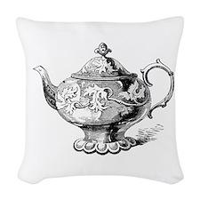 Alice In Wonderland Teapot Woven Throw Pillow