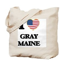 I love Gray Maine Tote Bag